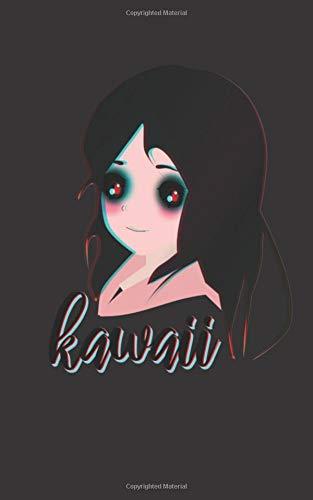 Kawaii: Anime Zombie Girl (Blank Lined) Journal - Black