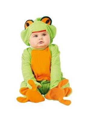 Guirca Costume Neonato Rana Ranocchio 1/12 Mesi, Colore Verde e Arancio, Nosize, FG81096