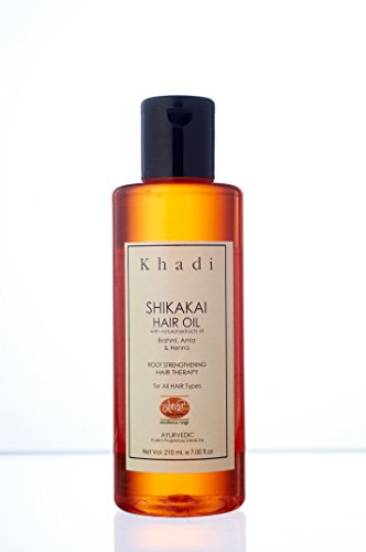 KHADI Shikakai Oil - Anti Hairfall & Root Strengthening - 210 ml - Enriched with Amla