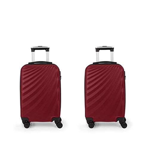 Set 2 Maleta Trolley Cabina Gabol Royal Rojo
