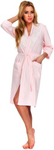 Italian Fashion IF Robe de Chambre Femme Lady Abricot
