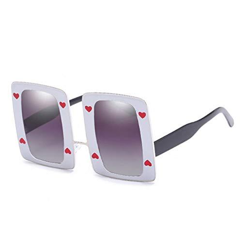 KUNHAN Damen Sonnenbrille Ladies Square Poker Sonnenbrillen Sommer Bunte PolarisierteBrille Shades Brille Anwendbarreisen, Fahren, Party,Einkaufen