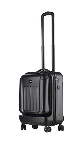 JSA 45564 - Reisetrolley S aus ABS - Kunststoff, schwarz matt, ca. 52 x 37 x 24 cm