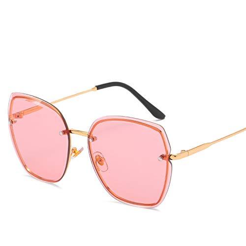 Yangjing-hl rahmenlose Sonnenbrille Sonnenbrille Fashion Street-Shooter Vielseitig Sonnenbrille, Red Piece, Einheitsgröße