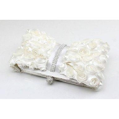 Damenmode Seide magnetische Schnalle Abendessen Tasche White