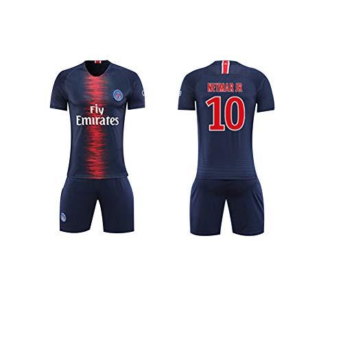 Spieler Kostüm Fußball Frauen - FNBA Paris Neymar JR 10# Kinder/Jugend Heimtrikot und Shorts, Kostüm Sportbekleidung Herrenbekleidung-Blue-XXL