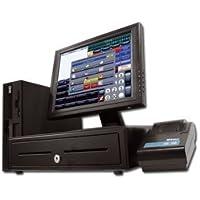 """TPV Completo con Monitor 17"""" táctil + cajon + impresora de tickets + Lector de codigo de barras USB"""