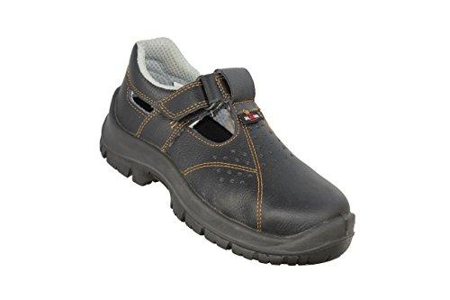 Almar Sandale S1 SRC Sicherheitsschuhe Arbeitsschuhe Sandale Schwarz Schwarz