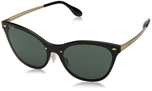 Rayban Damen Sonnenbrille 3580n, Gold Striped/Graygreen, 43