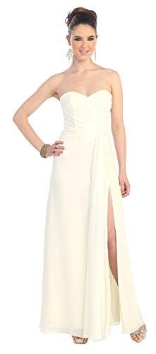 Abendkleid Lang Elegant für Hochzeitsgast Brautkleid Hochzeitskleid Abschlussballkleid mit Schlitz...