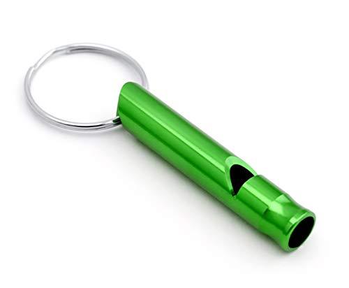 Silbato para el perro silbato formación silbato de emergencia al aire libre como un llavero en el color verde de la marca PRECORN