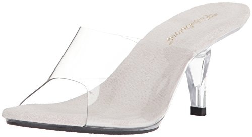 Fabulicious BELLE-301, Damen Offene Sandalen mit Keilabsatz, Transparent (Clr/Clr), 39 EU (6 UK)