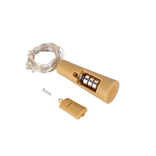Leezo Flaschenverschluss String Licht 2 Mt / 6,5FT 20 LED Batteriebetriebene Lichterkette für Flasche DIY Weihnachten Home Hochzeit und Party Decor