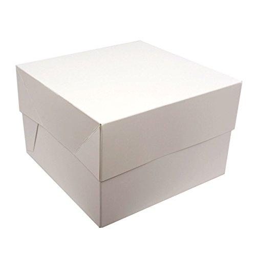 Kuchen-boxen (Weiß Quadratisch Kuchen-Boxen–Packungen von 5–Perfekt für den Transport Ihre Kreationen., Weiß, 38)