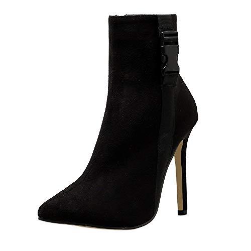 Bazhahei donna scarpa,ragazza tacco alto corto scarpe,invernali/autunno tacchi alti scarpe singole stivaletti flat shoes casual con tacco basso stivale,boots moda da donna