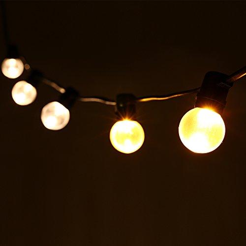Guirnalda de 25 bombillas G40, 762 cm LED Guirnaldas de bombillas, tip