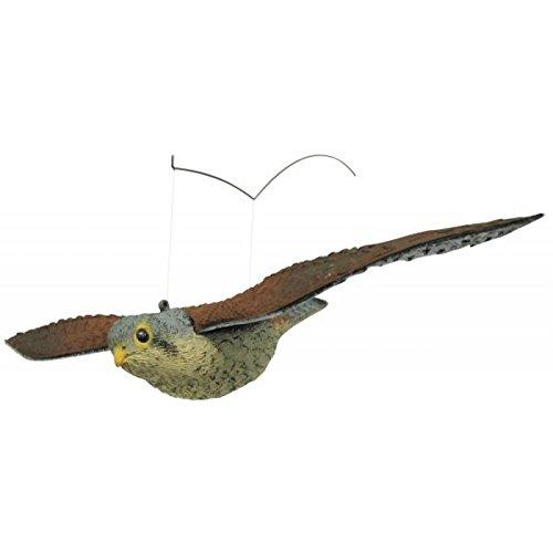Tierattrappe Vogelabwehr Vogelschreck Kunststoff Falke fliegend