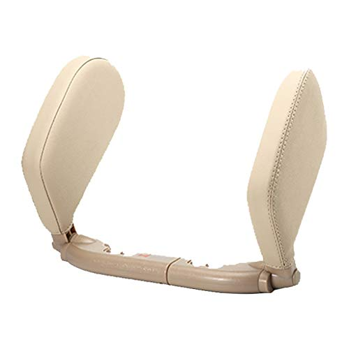 Yusell Car Sleep Side Headrest Langstrecken-Reise-Schlafkopfstütze PVC Special Leath (Beige)