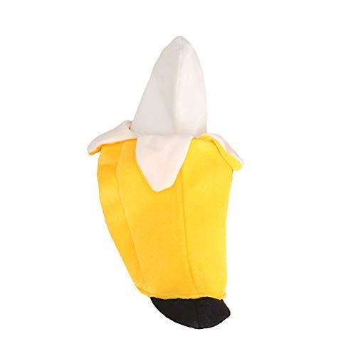Kostüm Hunde Banane - Haus Hunde Ruheplatz Lustiges Haustier Kostüm Halloween Banane Cosplay Kleidung für Hündchen (XL) Waschbar Einfache Reinigung Kuscheligem