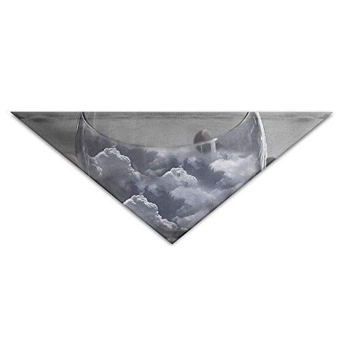 Wfispiy Sky Cloud in Hand Dog Bandanas Scarves Triangle Bibs Scarfs Funny Basic Neckerchief Cat Collars Pet Costume Accessory - Hund Collar Remote-bark
