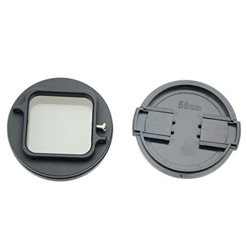Demino 58mm Glas Zirkularpolfilter CPL Objektiv-Filter Set ilter Adapter Ersatz für Gopro hero4 Sitzung schwarz 58mm