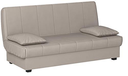 HOGAR24 ES Sofa Cama Clic Clac con Arcón De Almacenaje, Color Gris.