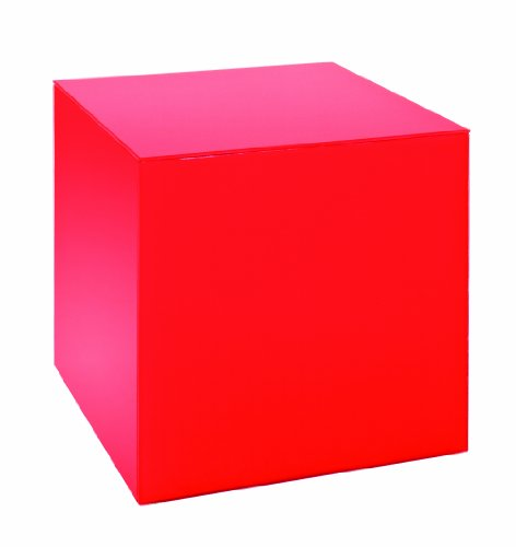 Haku Möbel 33470 Table Basse d'Appoint Verre Trempé Rouge
