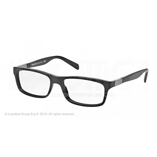 Prada Für Mann 02o Gloss Black Kunststoffgestell Brillen, 53mm