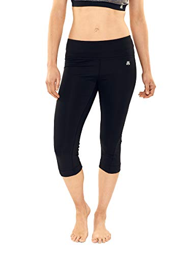 2d590809a Calmia Women s Reversible Active Capri Pants 3 4 Leggings Workout Yoga Pants