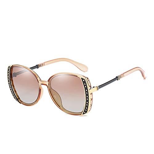 HQMGLASSES Frauen Sonnenbrillen Designerin-Sparkling Rhinestone Verschönerung Frame Shades Sun Brillen für Driving/Traveling, UV 400,Brown