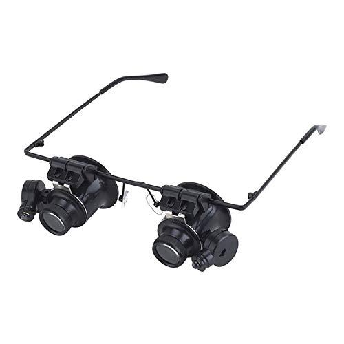 20X Brille beleuchtet High Definition-Lupe für ältere Zeitungen, Schmuckkennzeichnung, schwarz