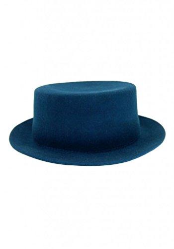 HATsanity Unisexe Trendy La laine Se sentait Canotier Chapeau Bleu