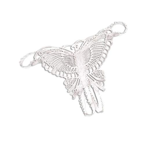 Zerama Frauen G String geöffnete Gabelungs-Zapfen T Zurück aushöhlen Schmetterling Stickerei G-Strings