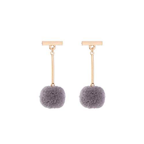 Thumby Ohrstecker Dangler Eardrop Temperament Elegante Wolle Ball Geometrische Ohrringe Modetrend Wilder Westlicher Stil Schmuck Schmuck für Parteien, Feste, Casual, b