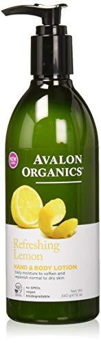 Avalon Lotion pour les mains et le corps - Extraits de citron et de verveine - Ingrédients bio - 360 ml