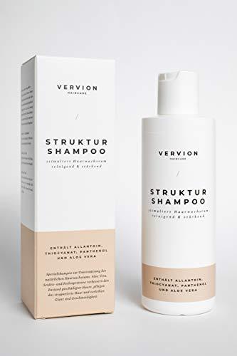 Shampoo gegen Haarausfall mit Thiocyanat - Haarwachstum beschleunigen und anregen - VERVION Structure Shampoo 200ml für Frauen und Männer