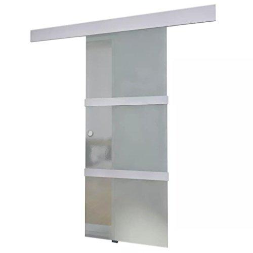 Nishore porta scorrevole in vetro e alluminio 178 cm argento