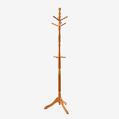 Eiche Dunkel Holz-basis (GFF Garderobe Hall Tree, bodenstehender Hut und drehbare Garderobe mit Schirmständer, Holz mit dunkler Walnusslackierung)