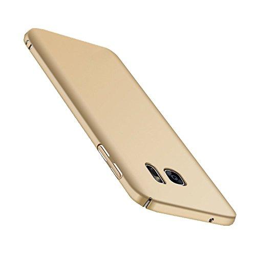 Wouier Samsung Galaxy S7 Hülle, Mode-Design Ultra Slim Federleicht Anti-dropping Schrubben PC Hart Hülle Schutzhülle für Samsung Galaxy S7 (Samsung Galaxy S7, Gold)