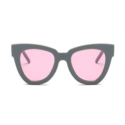 WooCo Retro Sonnenbrille für Herren und Damen Polarisierter UV-Schutz, Heißer Verkauf Vintage - Übergroße Brille Unisex - Vogue - Mirrored - Flat Lens - Sonnenbrille(C,One size)