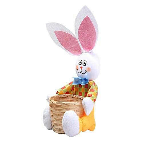 Bunny Candy Egg Basket Spielzeug Baby Kreative Kaninchen Lagerung Ostereier Tasche Kind Kinder Schöne DIY Handgemachte Party Dekoration