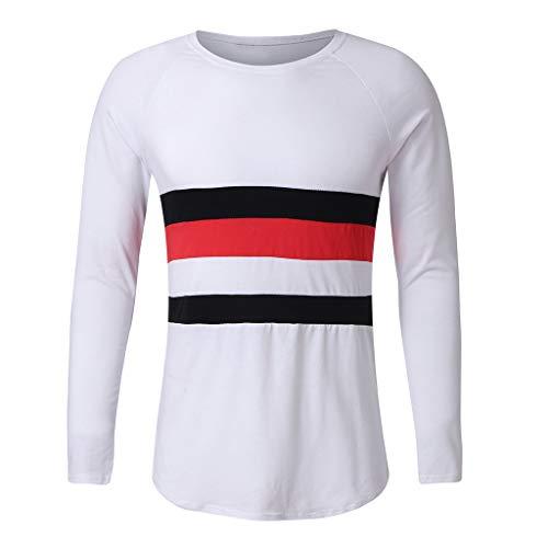 Der beiläufige lange Hülsen-dünne Pullover der Männer verbindet drei Farbe für vier Jahreszeiten Zolimx - Vier Jahreszeiten Textilien