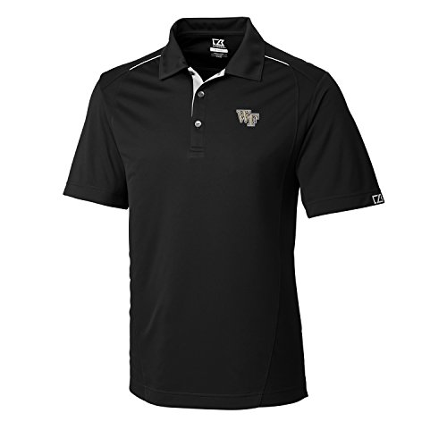 Cutter & Buck NCAA Men's CB Dry Tec Foss Hybrid Polo,Wake Forest Demon Deacons,X-Large,Black
