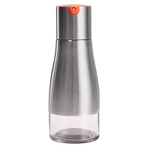 Botella para condimentos, botella para especias, cocina, hogar, cristal, acero inoxidable, botella para condimentos, vinagrera, salsa naranja