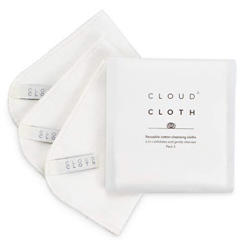 CloudCloth Beidseitige Gesichtsreinigungstücher aus reiner Baumwolle (3er-Pack)