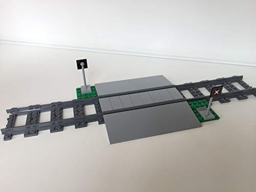 LEGO City Eisenbahn Bahnübergang, inkl. 3 gerade schienen (aus 60198) (Lego Bahnübergang)
