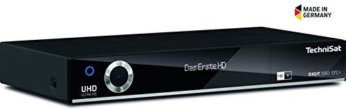 TechniSat DIGIT ISIO STC+ 4K Sat Receiver (auch für Kabelfernsehen & DVB-T2 geeignet) mit Aufnahmefunktion, Twin-Tuner, Smart TV, App-Steuerung & Streaming-Funktion