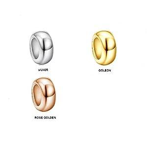 925er Sterling Silver Stopper Spacers, teilweise mit 18 krt. vergoldet, 9mm Durchmesser, Rubber Inside, für Pandora- / Chamilia- / Biagi- / Troll- / und andere Armbänder, SIL 100, Preis pro Paar!