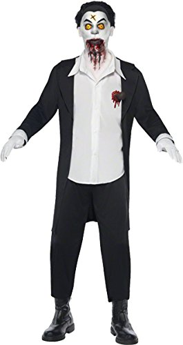 Smiffys Original Lizenz Living Dead Dolls Haemon Kostüm Geisterkostüm für Herren Dämon erwachte Puppe Halloween Damenkostüm Halloweenkostüm Horror Grusel Gr. S