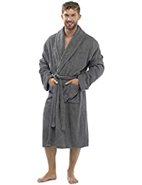 Mens Luxury 100% Cotton Towelling Bath Robe Dressing Gown Wrap Nightwear HT566
